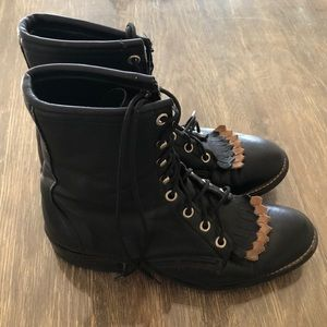 Laredo Cowgirl lace-up boots